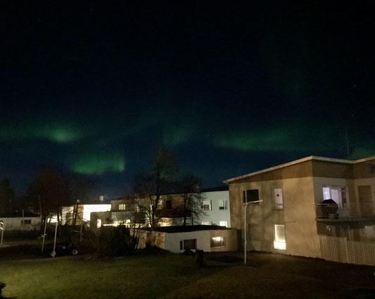 Nordlichter über Akureyri