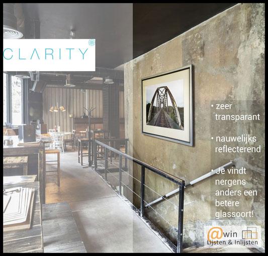 Clarity Glas • Museumglas • Fine Art Glas • Inlijstglas • Ontspiegeld glas