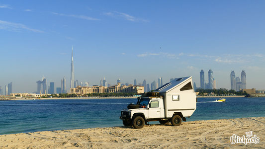 The MIchaels, Camping in Dubai, Skyline Dubai, Rundreise Dubai, Mit dem Auto nach Dubai