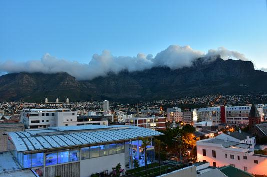Aussicht von unserem Apartment in Cape Town