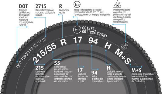 Tutte le informazioni reperibili sui pneumatici invernali