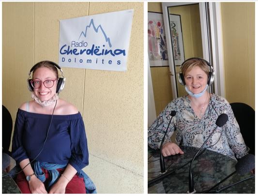 Nadia Rungger und Rita Lovas bei Radio Gröden