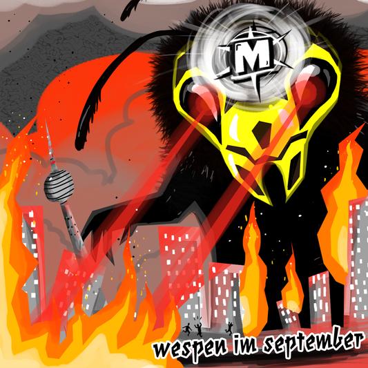"""Megamateur–Artwork zum Song """"Wespen im September"""""""