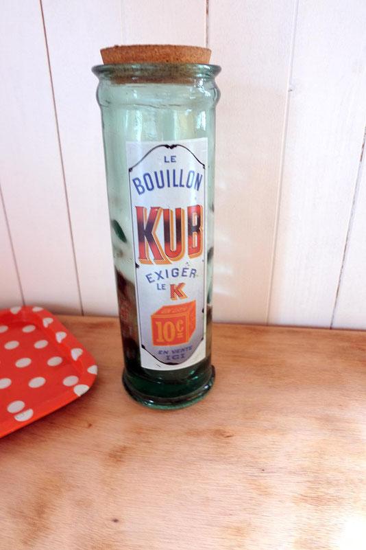 Bocal vintage Bouillon KUB Publicité