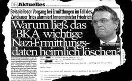 """""""Hvorfor lod BKA (forbundskriminalpolitiet) hemmeligt slette vigtige data om nazierne?"""""""
