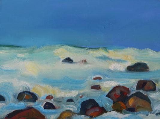 """"""" Sonnenmeer und Steine"""" Öl auf Leinwand 60x80 cm"""