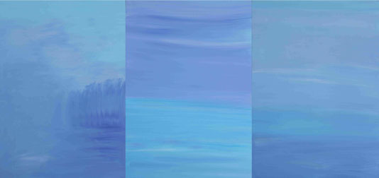 """""""Großes Blau"""" Öl auf Leinw. 140x100"""