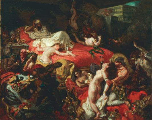 《サルダナパールの死》1827-28年