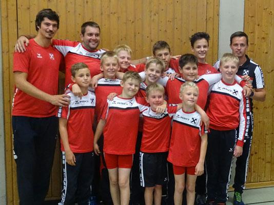 Die Nachwuchsathleten des RSCI mit den Betreuern Benni, Florian und Daniel