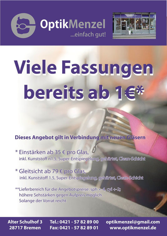 Angebote bei Optik Menzel in Bremen-Nord