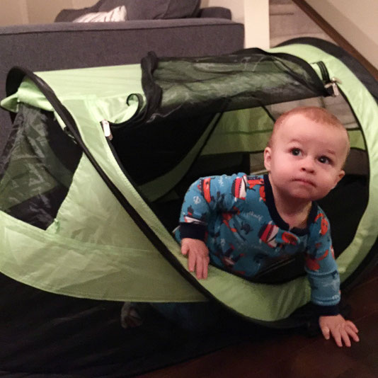 PeaPod Plus Travel Tent for Baby Sleep While on a Family Vacation