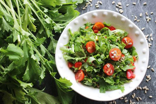 Frühlingssalat mit Stielmus Oligarto Rezepte Olivenöl