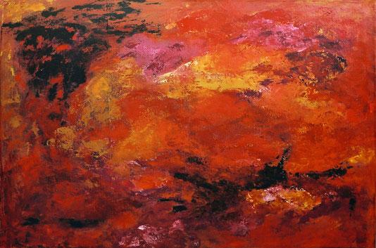 ohne Titel   2002   Acryl auf Leinwand   85 x 120 cm