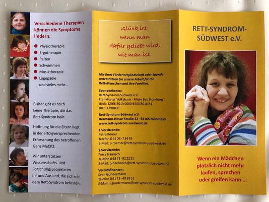 Rett-Syndrom Südwest e.V. Flyer Seite 1