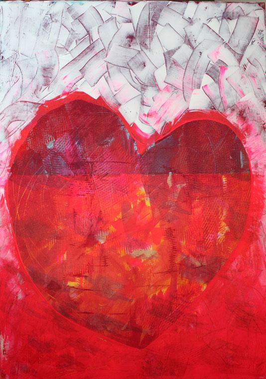 2015-HO-001 Acryl aus Leinwand (Museo): Liebe ist...