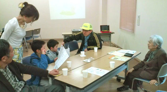 和やかに「たんぽぽカフェ」開く(生きもの会議主催。昨年4月。今回はふん囲気は少し変わるでしょう)