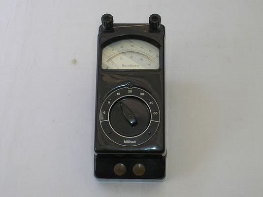 Millivoltmeter zur Messung von Thermoelementen 0 bis 60 m Volt. von 1954