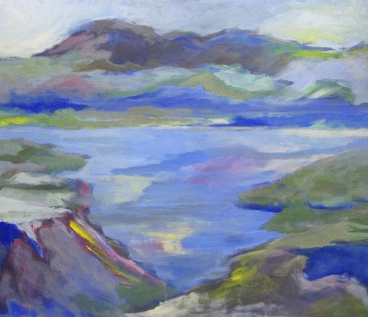 Bergsee– Acryl auf Leinwand – 60x80 cm – 2013