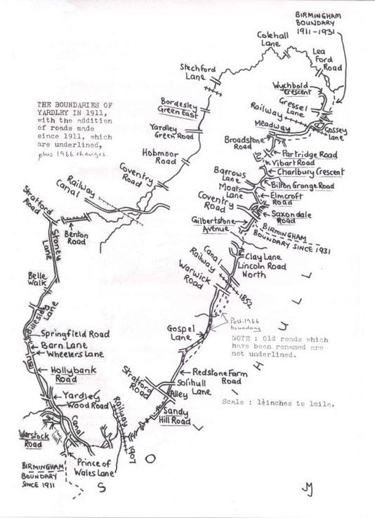 Boundaries 1911 to 1966