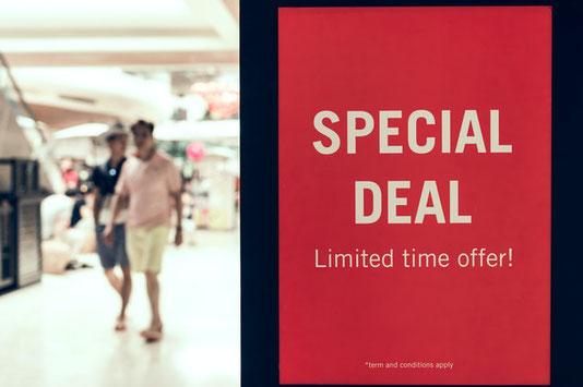 Une offre limité dans le temps est un exemple de marketing de la rareté.
