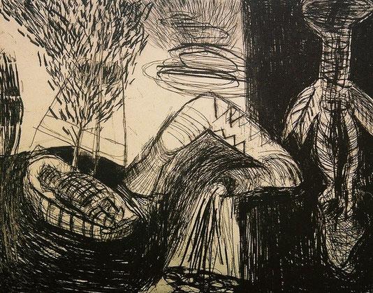 Ulysse, gravure, épreuve d'artiste, 2000