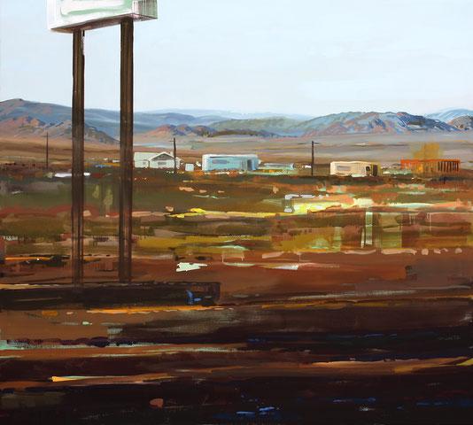 Amboy 2009 Öl auf Segeltuch 190 x 190 cm