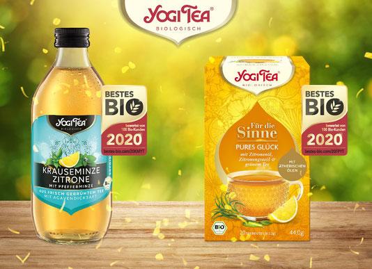 Bestes Bio 2020: Wir sind ausgezeichnet - YOGI TEA® Für die Sinne Pures Glück ist eine köstliche Kräuter- und Gewürzteemischung