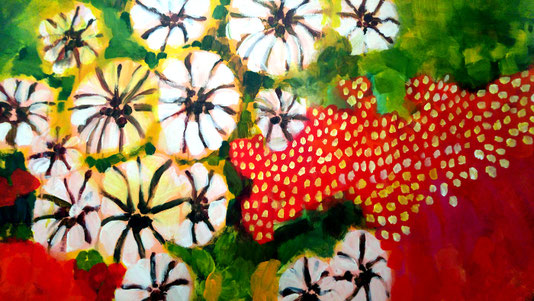 Sylvie Lander-peinture-fleurs-jardins-couleur-exposition