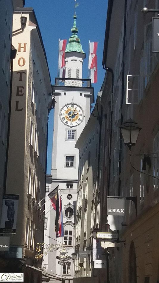 Salzburger Rathaus in der Getreidegasse.