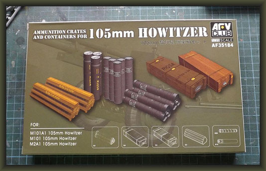 AFV Club - Nr. AF35184, Ammunition crates and containers for 105mm Howitzer, 1:35