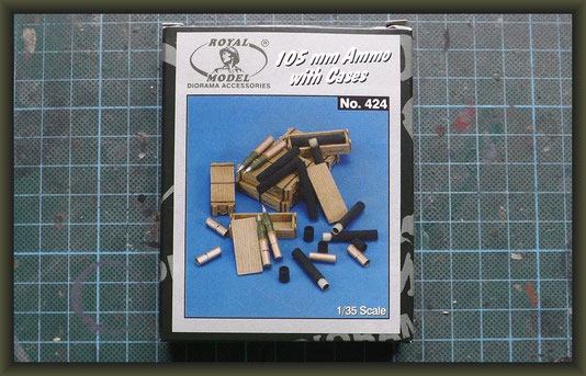 Royal Model - Nr. 424, 105mm Ammo with Cases, 1:35