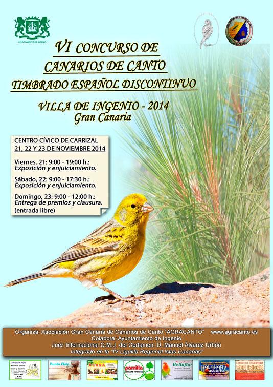 Cartel anunciador Concurso Agracanto 2014.
