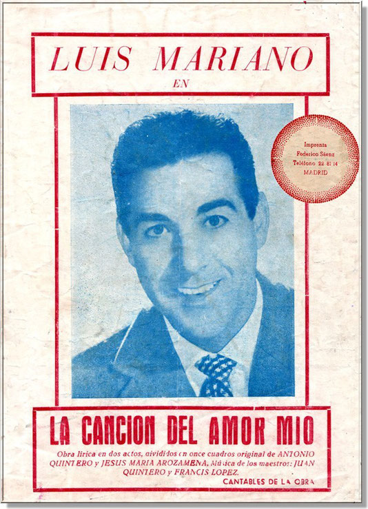 Affiche La Cancion del amor mio Luis Mariano