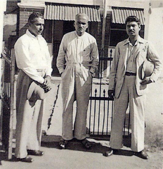 1939 Bangalore : ( L-R ) Adi K. Irani, Ghani, Eruch Jessawala