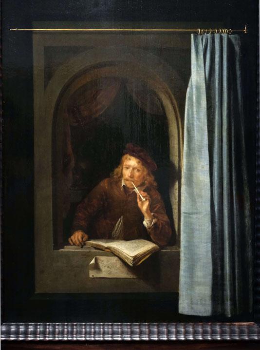 Pfeife rauchender Mann, Gerrit Dou 1613-1675, Rijksmuseum Amsterdam