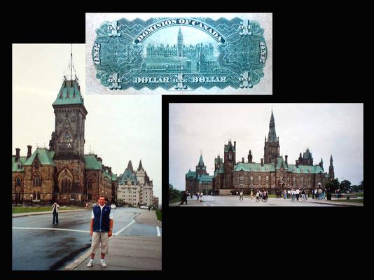 1 dólar Canadá desde el Parlamento de Ottawa