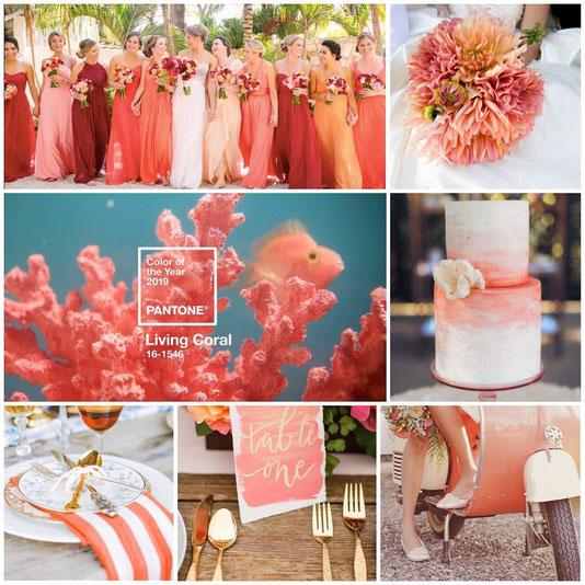 Color corallo 2019 pantone  matrimoni2019