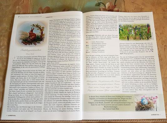 """Artikel """"Frühlingserwachen"""" im """"Schreib Was"""" Magazin"""" (April Ausgabe)"""