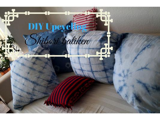 #biberette #batiken #shibori #tiedye #indigo #blau #diy #upcycling #selbermachen