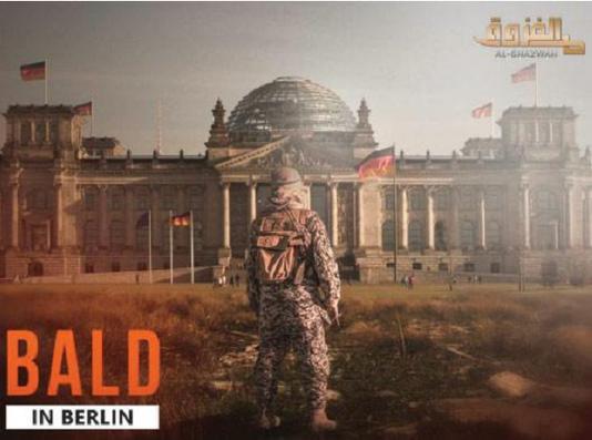 Islamischer Staat vor dem Reichtstag in Berlin