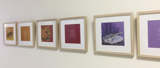 Ausstellung St. Marien-Hospital Lüdinghausen, ichrondelle, was ich bin, Gisela Rott, Lebenskunst-edition, Künstlerhof Lavesum