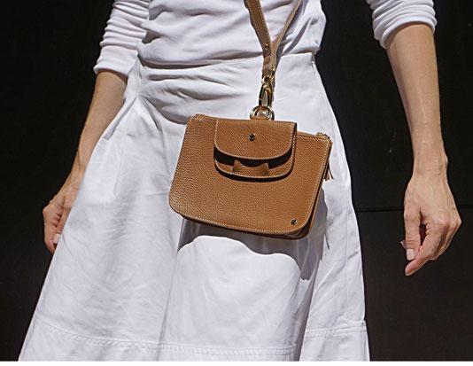 Fashion Schlüsselband Cognac - Set Lanyard mit Clutch & Geldbörse