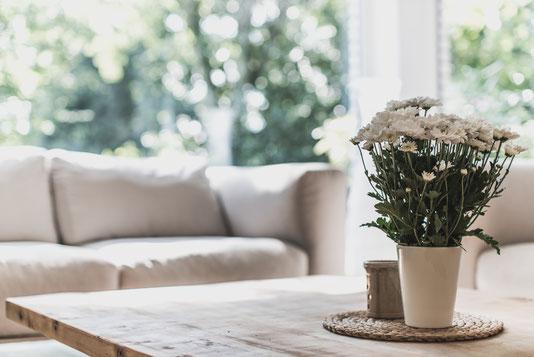 Designer Tisch und Couch