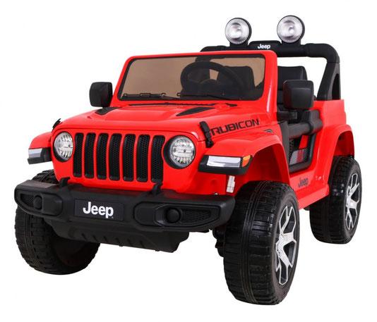 Jeep Wrangler Rubicon/Allrad/Kinderauto/ Kinder Elektroauto/lizensiert/2 Sitzer/rot lackiert/