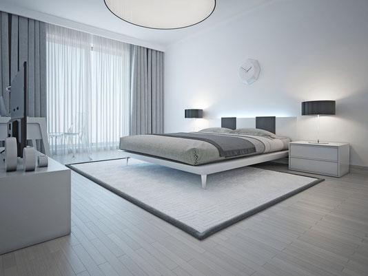 laminate flooring in elegant bedroom