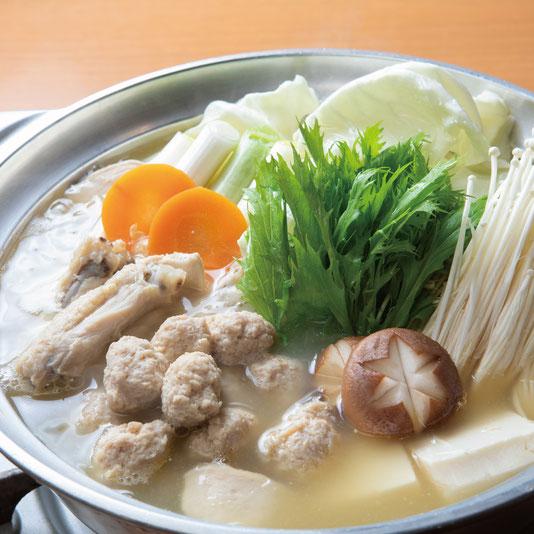 深いコクと旨味の「博多の味」,水炊き,博多水炊きさもんじ