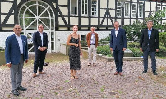 v.l.n.r.: Grigorios Aggelidis (MdB), Mario Gawlik, Christiane Hinze, Gerhard Kier, Armin Pollehn, Thomas Siekermann.