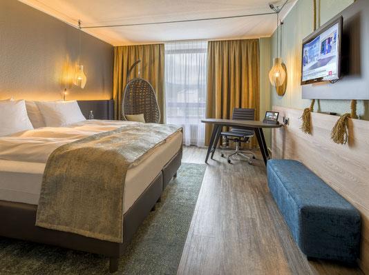 Hotelfotograf Frankfurt, Bett, Hotelzimmer, Doppelzimmer, Hotel