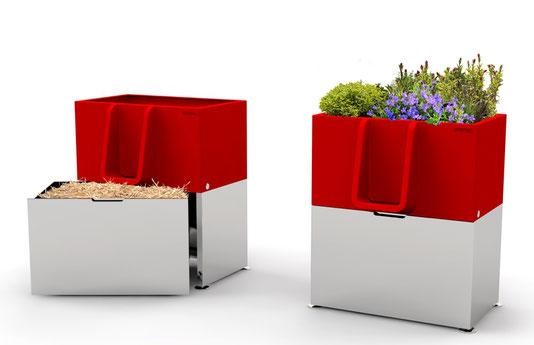 Uritrottoir ist ein ökologisches Pisoire mit Blumen, insbessondere gegen wilde Pinkler sehr geeignet.