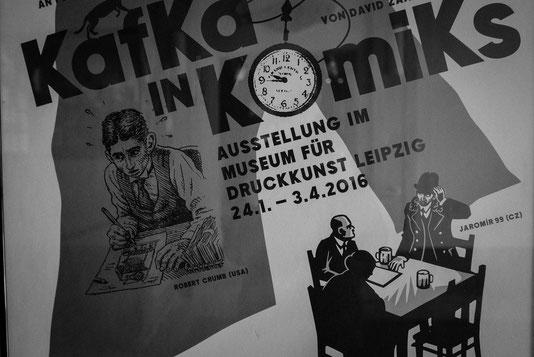 Plakat zur Ausstellung in Leipzig